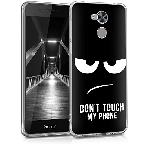 kwmobile Huawei Honor 6C Pro Hülle - Handyhülle für Huawei Honor 6C Pro - Handy Case in Weiß Schwarz