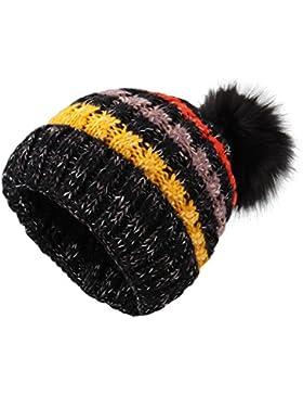 Sombreros de punto para las mujeres - YOPINDO Girls Beanie Hat lana de invierno de invierno de esquí al aire libre...