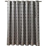 Eanshome Grau Polyester Anti-Bakteriell Wasserdicht Verdickung Duschvorhang mit Duschvorhangringen