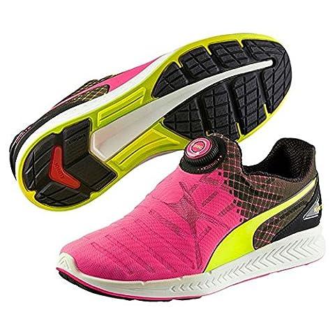 Puma Unisex Erwachsene Ignite Disc Tricks Laufschuhe, Multicolor (Safety Yellow/Pink Glo/Black), 43 EU
