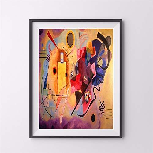yhyxll Kandinsky Tiere Abstrakte Leinwand Kunstdruck Malerei Poster Wandbilder Für Wohnzimmer Home Dekorative Schlafzimmer Decor Kein Rahmen Eine 50x75 cm