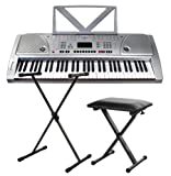 Funkey 61 Keyboard inkl. höhenverstellbarem Ständer und Sitzbank
