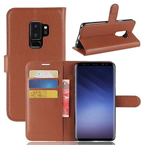 jbTec® Flip Case Handy-Hülle Book #M30 zu Samsung Galaxy S-Serie - Handytasche Schutz Cover Flip Cover Schutz-Hülle, Farbe:Braun, Modell:Galaxy S9+ Plus/SM-G965