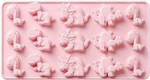 Ruiting Dinosaurier-Kuchen-Form-Silikon Bakeware Hitzebest/ändige Dessert Backform DIY Schokolade-EIS-Form