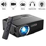 Beamer 1800 Lumen 1080P, VPRAWLS LED Mini Video Projektor Unterstützung Full HD Portable Multimedia Projektor für Heimkino Cinema Movie Entertainment