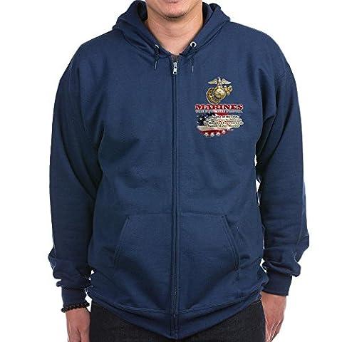 CafePress - USMC - Zip Hoodie, Classic Hooded Sweatshirt with