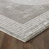 mynes Home Designer Teppich in Beige Creme Modern Orientalisches Muster Medaillon Versace MY3213...