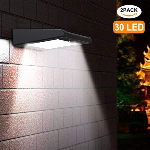 Solarleuchten für Außen, [2 Stück] Avaspot 30 LED Solarlampen mit Bewegungsmelder, Drahtlosen...