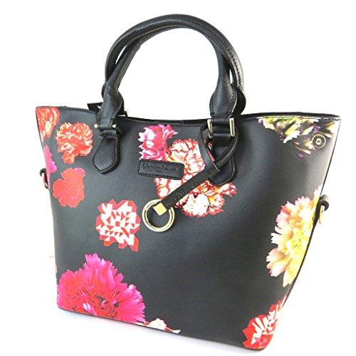 Bag designer 'Christian Lacroix'rosso nero - 32x26x15 cm.