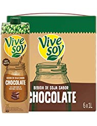 Vivesoy Chocolate - Paquete de 6 x 1000 ml - Total: 6000 ml