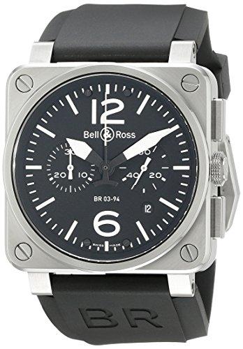 Bell & Ross BR03-94STEEL - Reloj, correa de goma