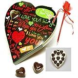 Ghasitaram Gifts Valentine Gifts- Heart Chocolate Box,110Gm