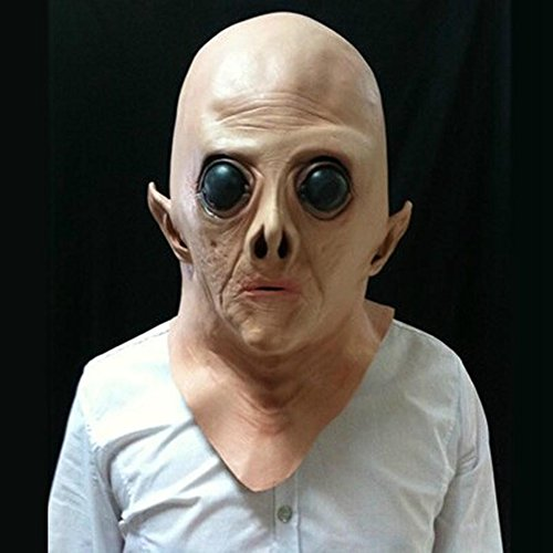 FO Latex Alien Big Eyes Maske für Holloween Partei (Beängstigend Vintage Halloween-masken)