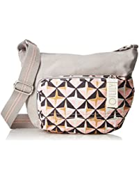 Oilily - Whoopy Geometrical Shoulderbag Svz, Shoppers y bolsos de hombro Mujer, Rosa (Rose), 7x22x31 cm (B x H T)