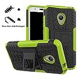 LiuShan Alcatel U5 Hülle, Dual Layer Hybrid Handyhülle Drop Resistance Handys Schutz Hülle mit Ständer für Alcatel U5 Smartphone (mit 4in1 Geschenk verpackt),Grüne