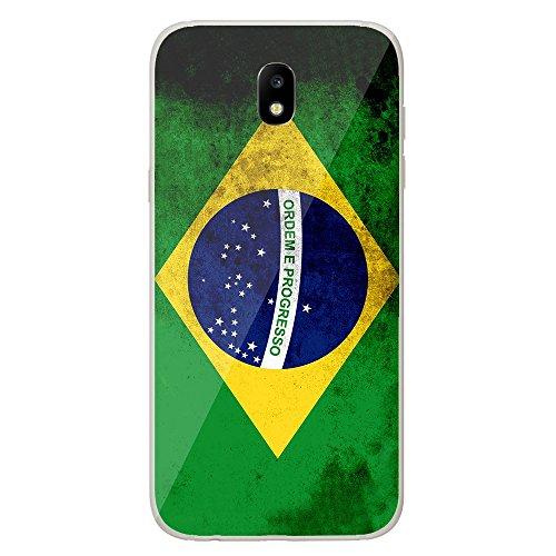 Housse Coque Etui Samsung Galaxy J5 2017 silicone gel Protection arrière - Drapeau Brésil