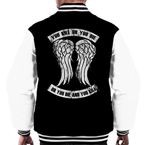 Cloud City 7 Walking Dead Kill Or Die Quote Clean Men's Varsity Jacket