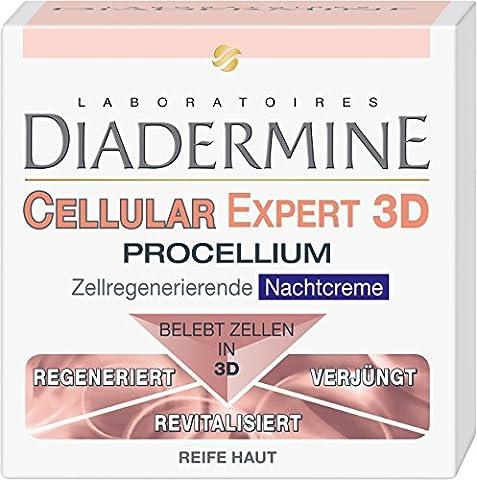 Diadermine Cellular Expert 3D Procellium Zellregenerierende Nachtcreme, 1er Pack (1 x 50 ml) (Cellular Tagescreme)