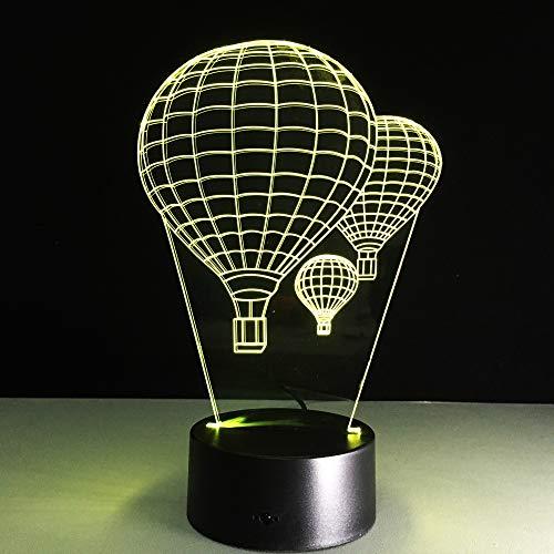 Yangll 7 Farbe Heißluft Ballon Lampe 3D Visuelle LED-Nachtlichter Für Kinder Touch USB Tisch Lampara Lampe Baby Schlafen Nachtlicht