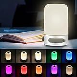 Öuesen LED Stimmungslicht RGB Farbwechsel Dimmbar Tischlampe Nachtlicht Nachttischlampe Atmosphäre Neutralweiß USB aufladbar mit Powerbank