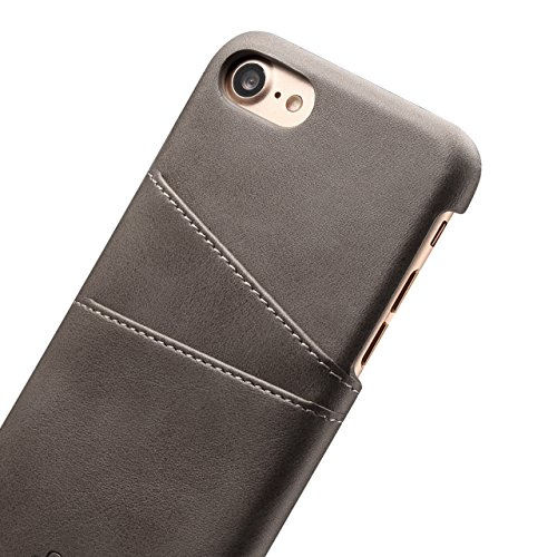 Case per iPhone 6 Card ,Cover per iPhone 6, Bonice Vintage Synthetic Leather Wallet Ultra Slim Professional Executive Snap On Cover with 2 Card Holder Slots Case Cover per iPhone 6/6S (4.7 pollici) +  Grigio chiaro