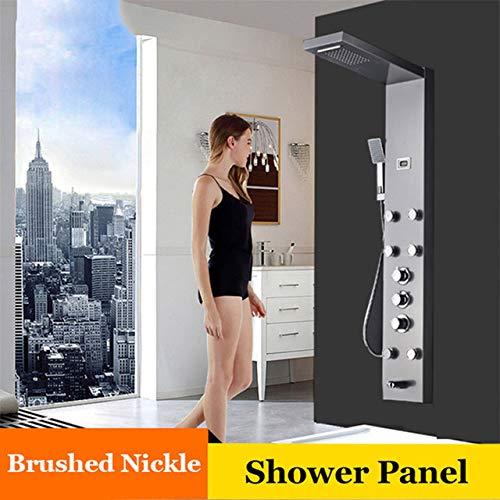 SHIJING Duschpaneele mit Digitalanzeige und Massagedüsen für Badewanne und Dusche 2 -