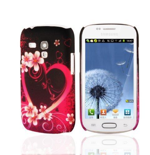 Preisvergleich Produktbild Cadorabo - Hard Cover für > Samsung Galaxy S3 MINI < - Case Cover Schutzhülle Bumper im Design: LOVE FLOWER