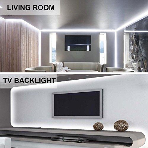 confronta il prezzo Ustellar Dimmerabile Striscia Flessibile a LED 5M Kit, 300 SMD, Alimentatore incluso Flessibile Luce Bianco Diurna Decorazione interna, Non-impermeabile miglior prezzo
