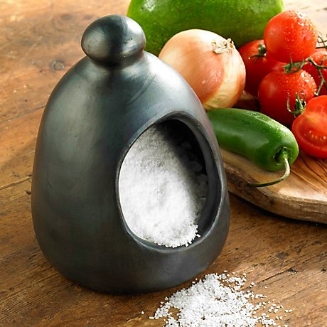 Black Clay, La Chamba Salt Pig by Ancient Cookware