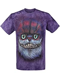 The Mountain Big Face Cheshire Cat T-shirt violet