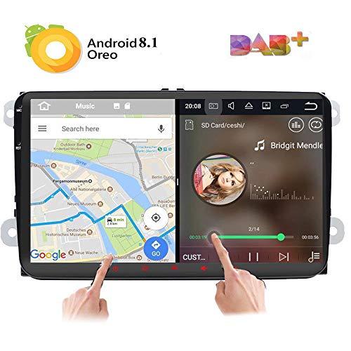 """Android 8.0estéreo de coche doble 2DIN 9\""""pantalla pantalla táctil capacitiva Sistema de navegación GPS para Volkswagen Volksvagen Golf Passat Tiguan Polo Jetta Skoda Seat Quad Core 2G RAM"""