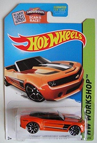 HOT WHEELS HW WORKSHOP ORANGE CAMARO CONVERTIBLE CONCEPT 246/250 SHOWDOWN SCAN & RACE CARD! by Hot Wheels