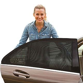 Sonnenschutz Auto Baby- Block-UV-Strahlen - Schützen Sie Ihr Kind und Haustier - passt auf die meisten Autos - 2 Stück