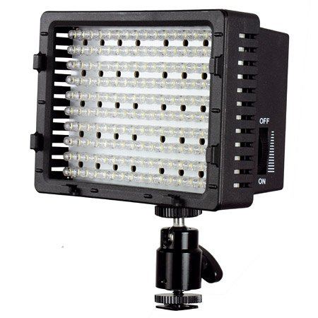 LED-Videoleuchte CN-170, 1050 Lux, Video Light, LED Panel für Camcorder, Kamera & Videokamera