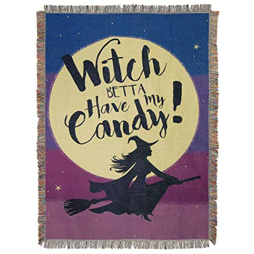 The Northwest Company Halloween, Candy Witch Woven Tapestry, 48
