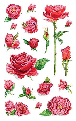 Papier Nur Dem Rosen Auf (Avery Zweckform 54337 Deko Sticker Rosen 54 Aufkleber)