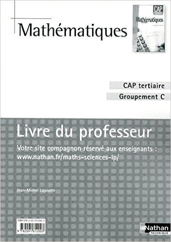 Mathématiques - CAP Tertiaire - Groupement C de Jean-Michel Lagoutte ( 12 juin 2010 )