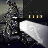 77g Super Bright 4 Modos CREE L2 LED bicicleta luz 240 lúmenes potente faro de bicicleta USB recargable IPX4 impermeable bicicleta frontal luz negro