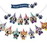 Hund Gesicht Geburtstag Banner Hund Geburtstag Girlande Hund Thema Party Bunting Dekoration Party Lieferungen