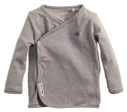 Noppies Noppies Unisex - Baby T-Shirt U Tee Ls Soly Yd, Einfarbig, Gr. Frühchen (Herstellergröße: 44), Grau (Anthracite Melange)