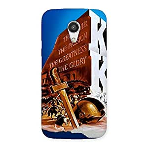 Delighted King Power Back Case Cover for Moto G 2nd Gen