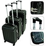 Set de 3 valises Trolley noires