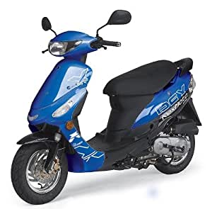 rex scooter mokick roller rs 425 25km h 50ccm blau schwarz sport freizeit. Black Bedroom Furniture Sets. Home Design Ideas