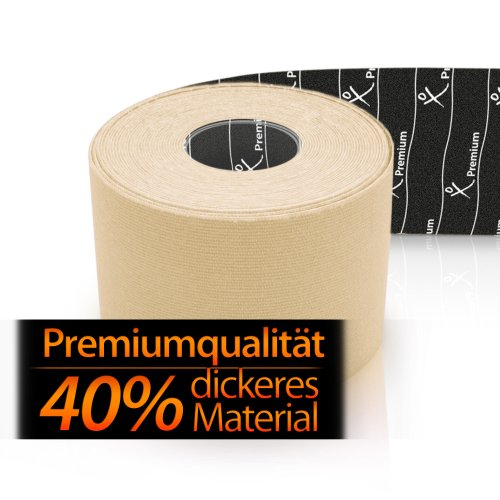 Premium Erste-hilfe-tape (Gatapex PREMIUM Kinesiology Tape 5mx5cm, elfenbein)