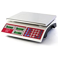 Camry 15kg/33lb Báscula de precios digitales para Alimentos con 37cm Plataforma de Pantalla Dual