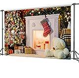 CapiSco Fotohintergrund Fotografie Stoffhintergrund Stoff Hintergrund Fotostudio Weihnachten 2,7 * 1,8m XM19B