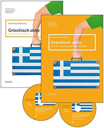 Griechisch aktiv - Set: Lehr- und Arbeitsbuch, Schlüssel zu den Übungen, zwei mp3-CDs und eine Lernkarte