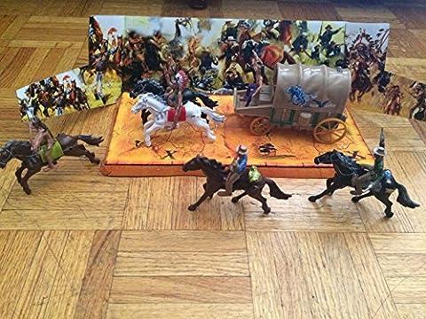 Wild Wild West Cowboys vs. Indians Action Figure Set- 12