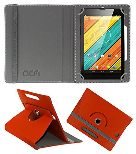 Acm Rotating 360° Leather Flip Case for Digiflip Pro Xt712 Tab Cover Stand Orange  available at amazon for Rs.149