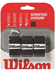 Wilson Advantage - Overgrip de tenis, color negro